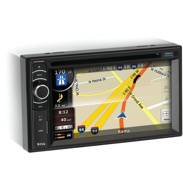 "Boss Audio Systems BV9386NV 6.2"" Double-DIN In-Dash Navigation DVD Receiver with Bluetooth & iPod Control"
