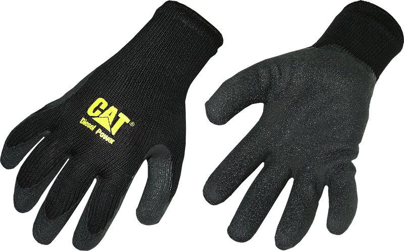 CAT017400J POLY CTTN BLK GLOVE