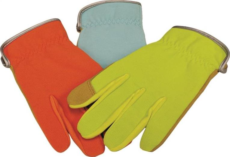 Guard 784 Assorted Driver Gloves, Women's, Spandex Back, Orange/Blue/Green, Unlined Lining