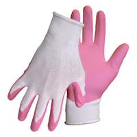 GLOVES NITRILE PALM WHITE KNIT