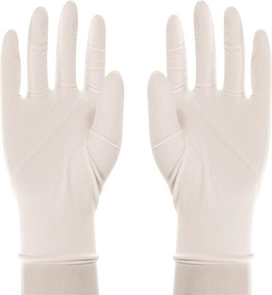 Boss 1UL0004X Disposable Reversible Protective Gloves, X-Large, Latex, White, Unlined Lining