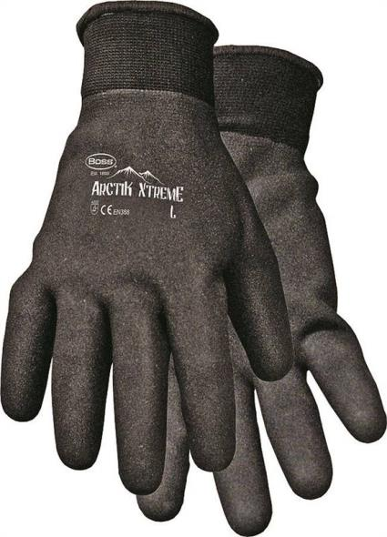 Arctik Xtreme 7841L Protective Gloves, Men's/Large, Nylon Shell, Black, Terry Lining