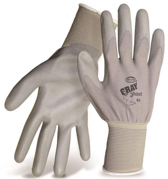 Boss 3000L General Purpose Gloves, Large, Nylon, Gray