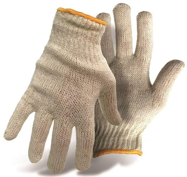 Boss 1JC1203  Gloves, Poly/Cotton, Large