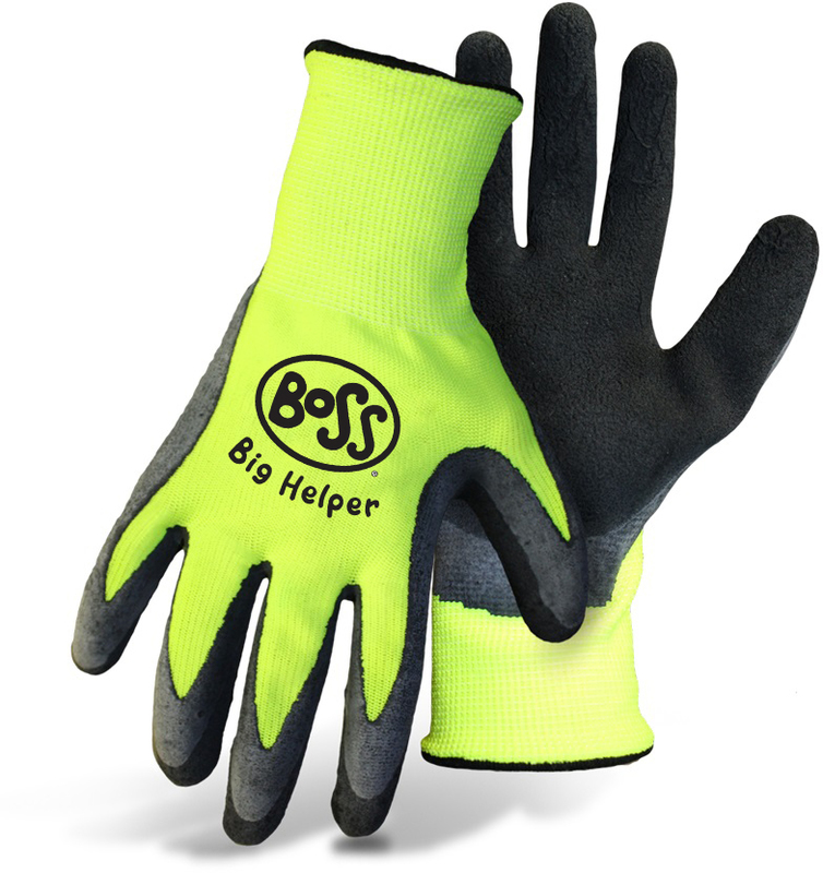 GLOVES LATEX HIVIS GRN CHILDRN