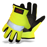 GLOVES MECHANIC HIVIS REFLEC L