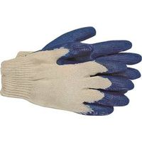 Boss 1SR8427L Economy Protective Gloves, Large, Polyester/Cotton, Blue