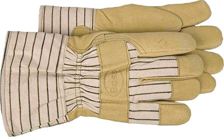 Boss 4399L Driver Gloves, Large, Cotton Back, Tan, Polyester Lining