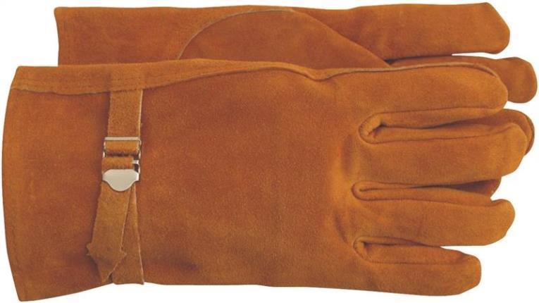 Boss 4071M Driver Gloves, Medium, Split Leather, Brown, Unlined Lining