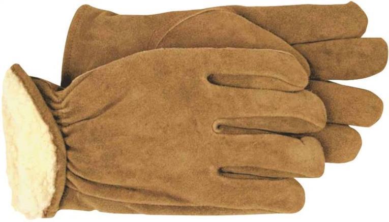 Boss 4176M Driver Gloves, Medium, Brown, Polyester Pile Lining