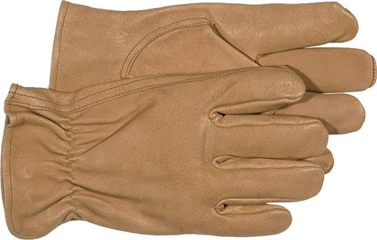 Boss 4052J Driver Gloves, Jumbo, Grain Pigskin Leather, Tan, Unlined Lining