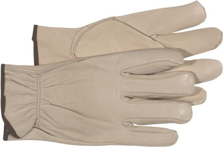Boss 4068J Driver Gloves, X-Large, Regular Grain Leather, Natural, Unlined Lining