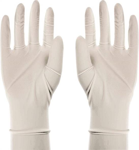 Boss 1UL0004L Disposable Reversible Protective Gloves, Large, Latex, White, Unlined Lining