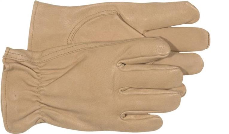 Boss 4052L Driver Gloves, Large, Grain Pigskin Leather, Tan, Unlined Lining