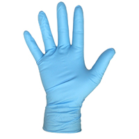 GLOVES NITRILE DISPO BLU SMALL