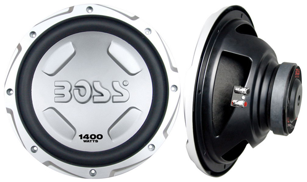 BOSS CX122 CAR SUBWOOFER CHAOS EXXTREME SILVER 1400 WATTS
