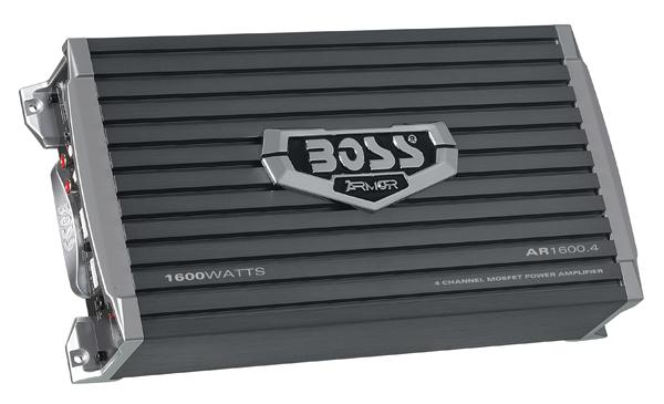 BOSS AR16004 CAR AMPLIFIER ARMOR BLACK 1600 WATTS 4 CHANNEL
