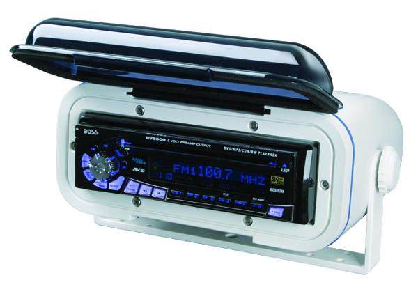 BOSS MRH7 WHITE WATERPROOF CAR RADIO COVER UNIVERSAL MARINE