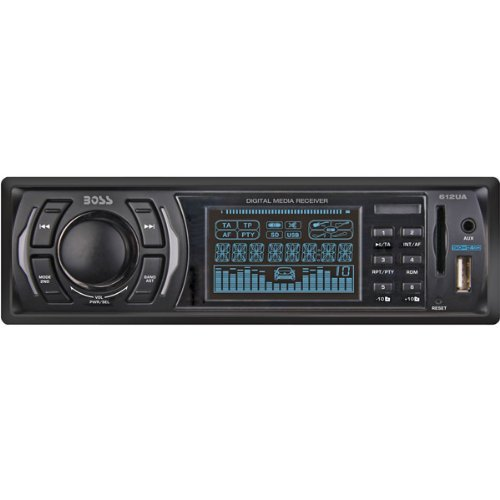 BOSS 612UA CAR CD RECEIVER MP3 COMPATIBLE SOLID STATE AM FM