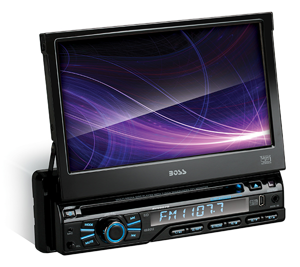 BOSS BV9967B BLACK SINGLE DIN 7 INCH MOTORIZED TOUCHSCREEN