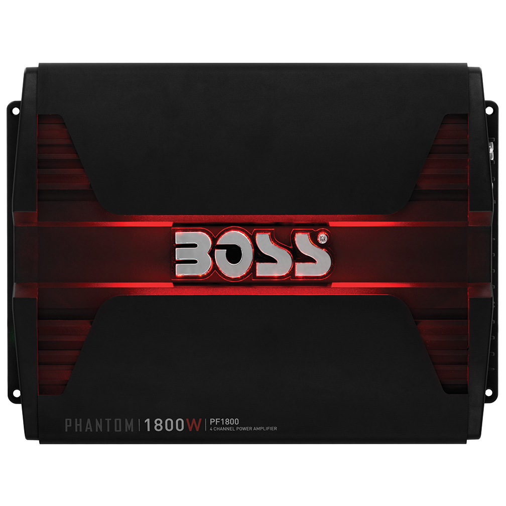 BOSS PF1800 AMPLIFIER 1800 MAX WATTS 4 CHANNEL BRIDGABLE