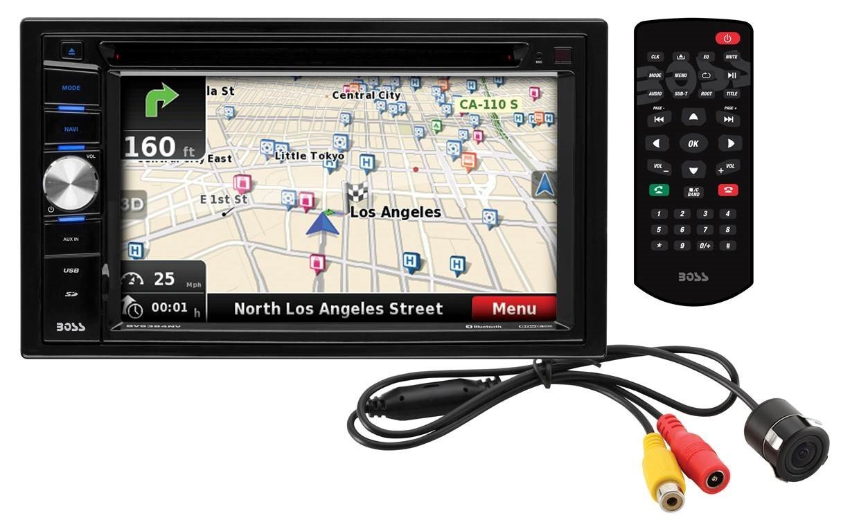 BOSS BVNV9384RC DOUBLE DIN DVD PLAYER AND RECEIVER 6.2 INCH