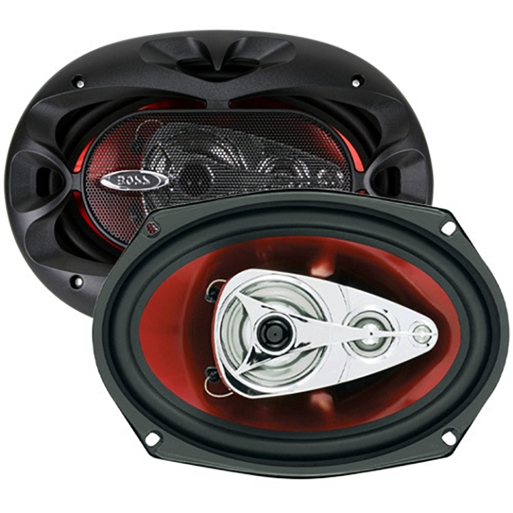 Boss 6x9 Speaker 4-Way red poly injection cone