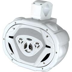 """Boss Marine 6x9"""" 4-Way Wake Tower Speaker White"""
