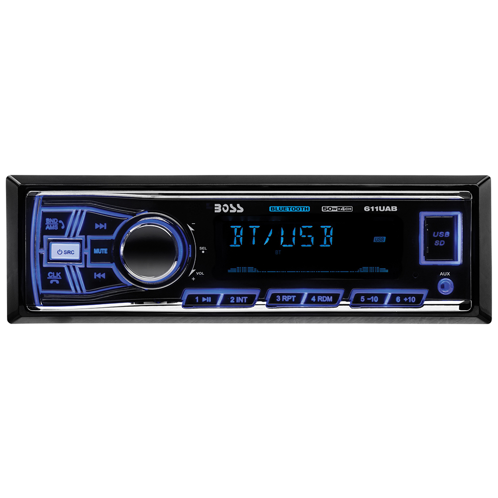 Boss Mechless Bluetooth AM/FM Receiver USB/SD Front Aux Input