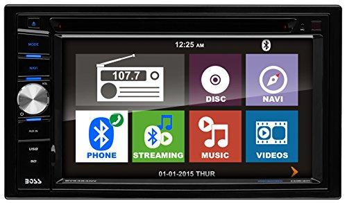 "Boss 6.2"" DDin Receiver Navigation Bluetooth DVD/CD Remote"