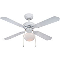 """Boston Harbor 42"""" Ceiling Fan with Downrod And 1 Light, White"""