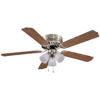52In Antique Bronze 3 Light Hugger Ceiling Fan