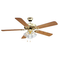 52In Pb 3 Light Dual-Mnt Ceiling Fan