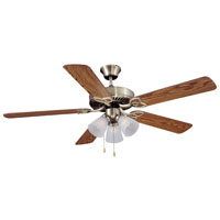 52In Antique Bronze 3 Light Dual-Mount Ceiling Fan