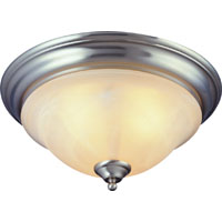 3 Light Brushed Nickel Albstr Ceiling Fixture