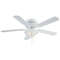52In White 2 Light Hugger Ceiling Fan