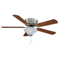 "52"" 2 Light Hugger Ceiling Fan, Brushed Nickel"