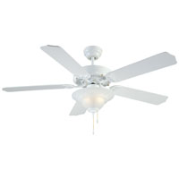 52In White 2 Light Ceiling Fan