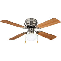 Boston Harbor 42-742T-MR-EN-BN Hugger Ceiling Fan, 4 Blade, Brushed Nickel
