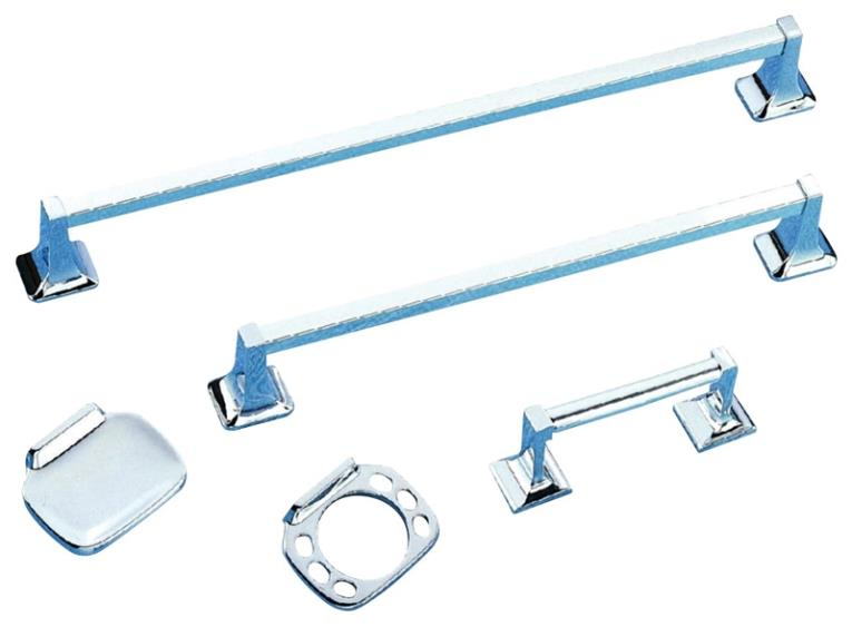 BATH ACCESSORIES CHROME 5PC
