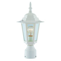 1-Light White Post Lantern Medium