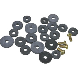 FAUCET WASHER FLAT RUBB 24PC