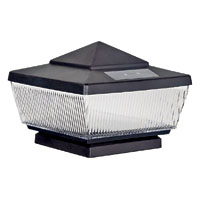 Boston Harbor QPP3-R4-BK-B1 Solar Post Cap, For Use with 4 X 4 in Post, 4 lumens Output, Black