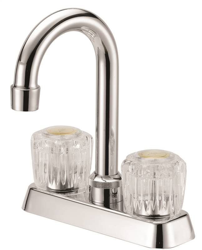 BAR FAUCET ACRYL 2-HNDL CHROME