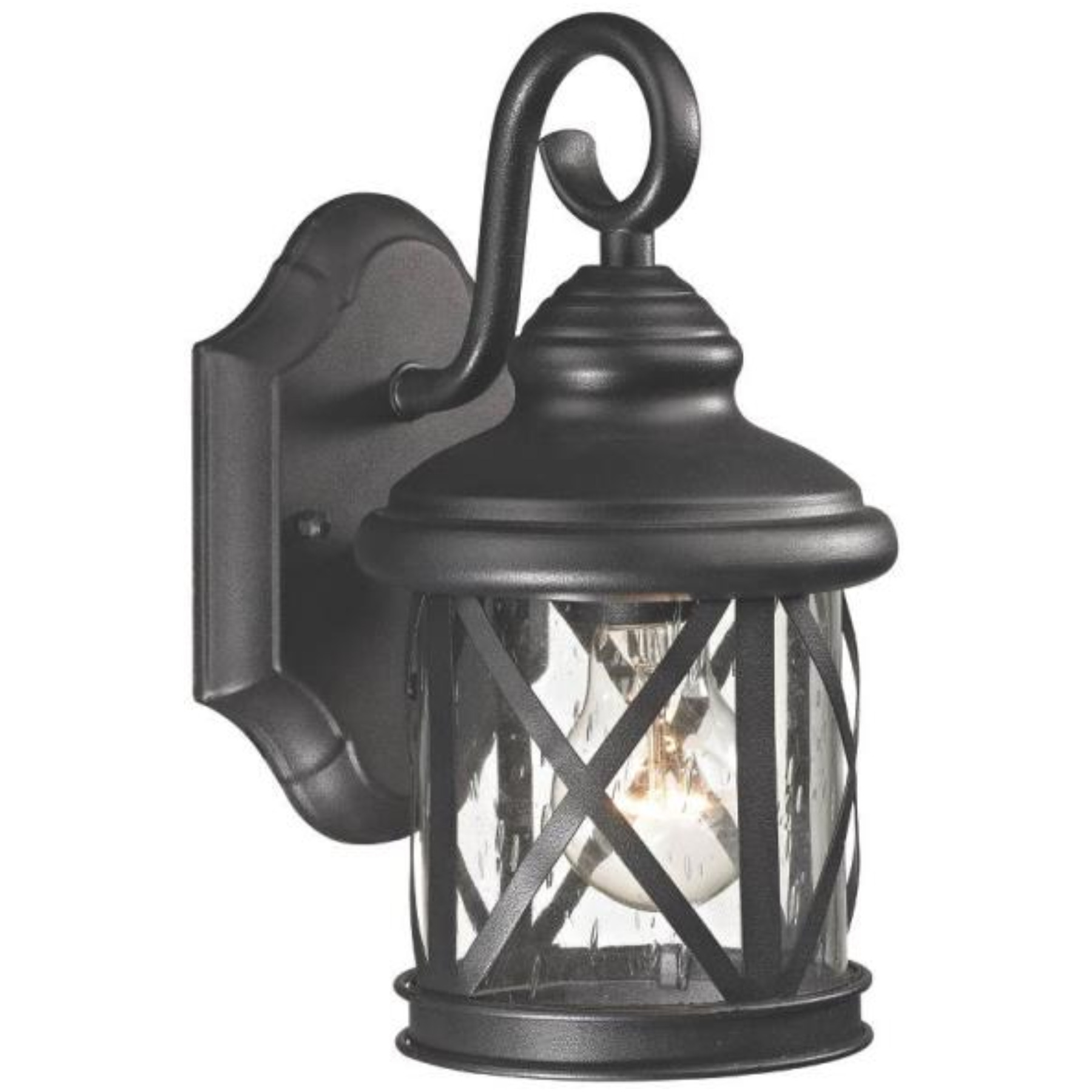 LANTERN OUTDR WALL BLK 1 LIGHT