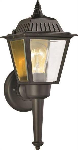 LIGHT WALL OUTDOOR LANTERN BLK