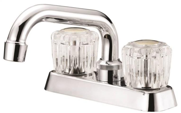 FAUCET LAUNDRY 4IN 2HNDL CHRM