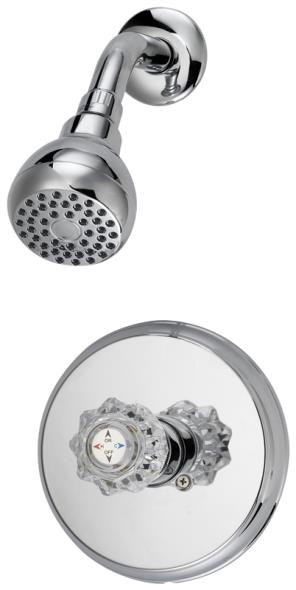 SHOWER FAUCET ONLY 1 HNDL CHRM