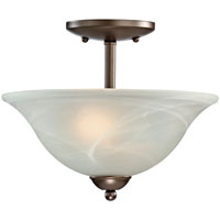Boston Harbor A2242-2-VB Ceiling Fixture, 60 W, 2 Lamp