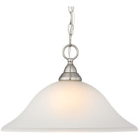 Boston Harbor LYB130928-1DP-BN Pendent Light Fixture, 100 W, 1 Lamp, A19